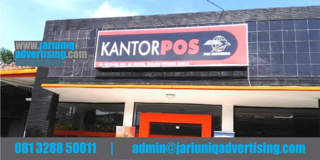 Jasa Advertising Jogja Neon Box Kantor Pos Indonesia Di Yogyakarta