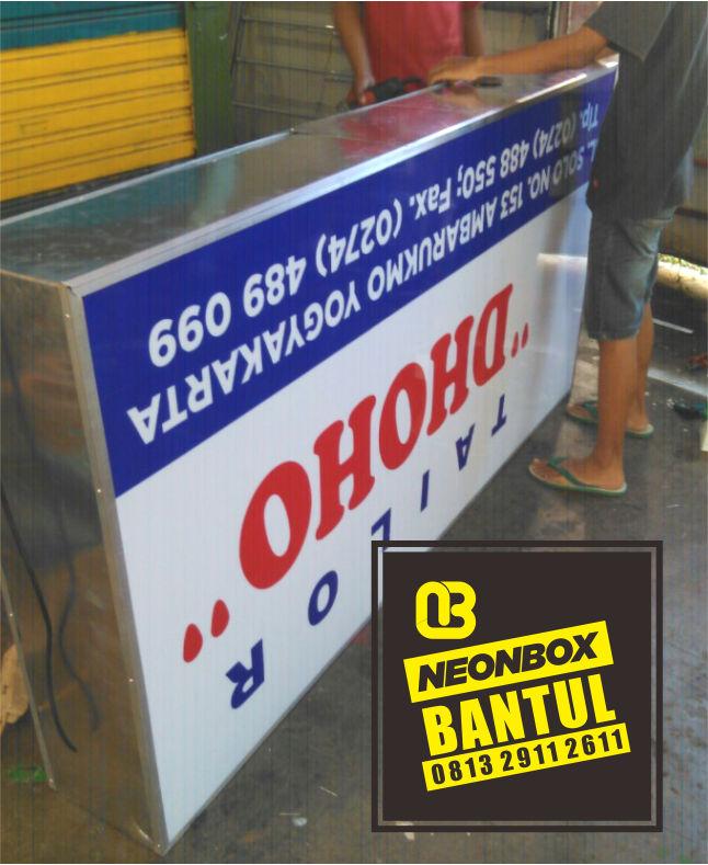 Neon Box bisnis kantor murah di Bantul