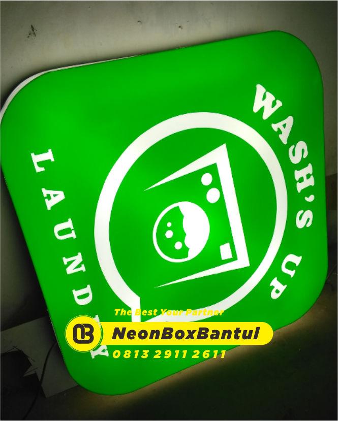 Neon Box laundry murah di Bantul