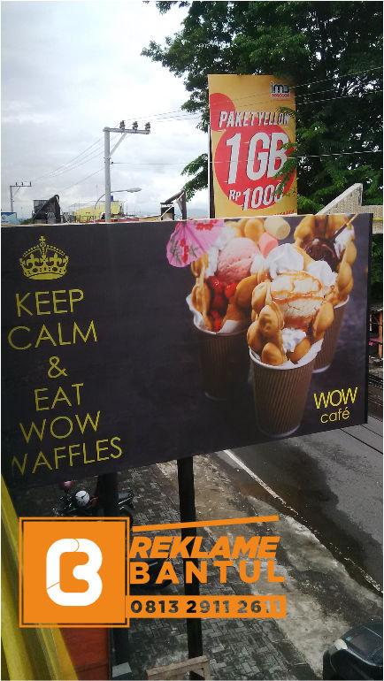 Reklame Plang Nama Papan Nama gelato resto Di Bantul