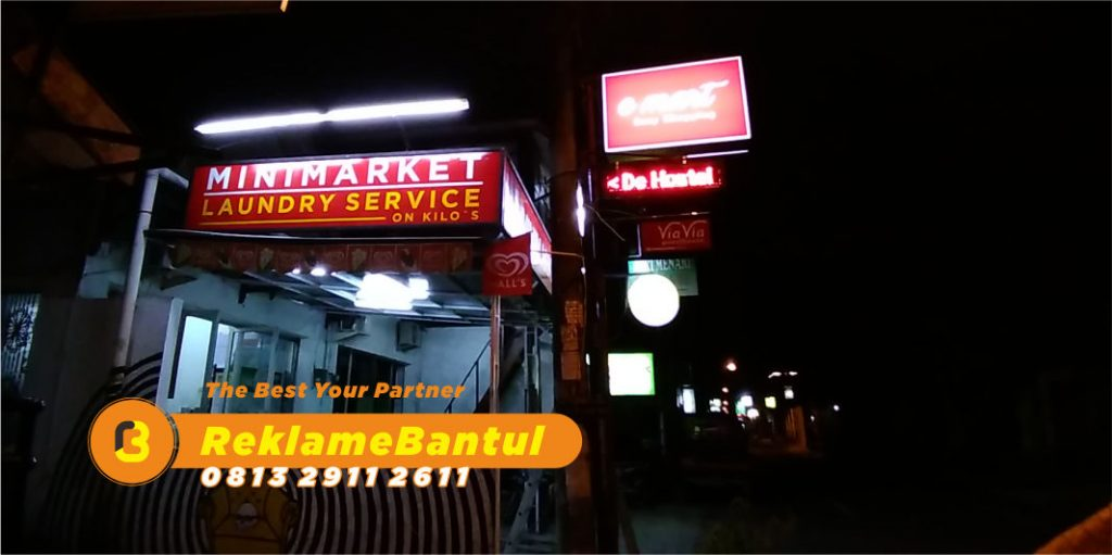 Reklame Plang Nama Papan Nama toko minimarket Di Bantul