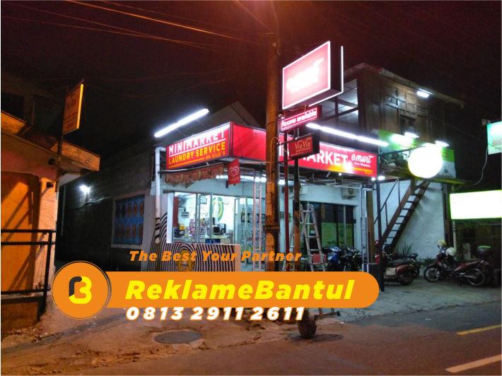 Reklame Plang Nama Papan Nama toko murah minimarket Di Bantul